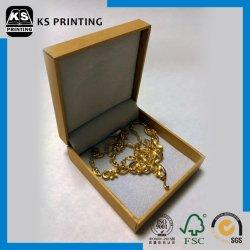 Or personnalisé de luxe cuir synthétique coffret à bijoux à charnière de l'emballage