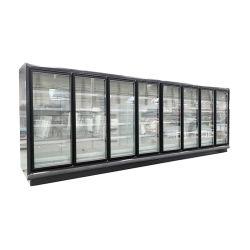 Supermarkt Gewerbliche Kühlschränke 4 Tür Glas Getränke Air Freezer Display Kühler für den Supermarkt