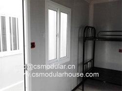샌드위치 위원회를 가진 조립식 편평한 포장된 디자인 콘테이너 집, 기숙사로 조립식 집