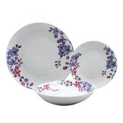 Feines Porzellan-Essgeschirr-gesetzte preiswerte Essgeschirr-Platte mit Abziehbild