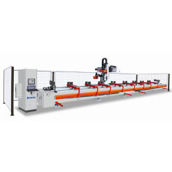 4-assige aluminium CNC-machine voor machinaal frezen in het midden