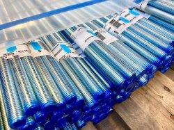 Weißes blaues Zp mit Blau auf dem umrandeten verlegten Rod/dem Gewinde Rod DIN975 Bsw im ANSI-Standard