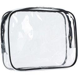 明確な機内持込旅行袋、航空会社のクォートの方法袋、男女兼用のためのジッパーの包装袋が付いているPVC構成袋
