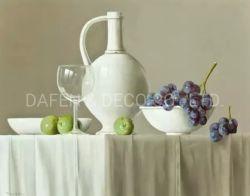 Bodegón de la pintura de la fruta de uva y Vase
