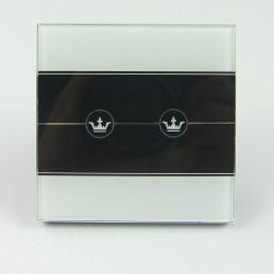 LEIDENE van de Schakelaar van de Sensor van de Aanraking van 2mm het Naar maat gemaakte Verlichte Glas van de Badkamers