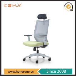 Base de alumínio modernas ergonómico Secretária Executiva Cadeira de escritório de Rolagem