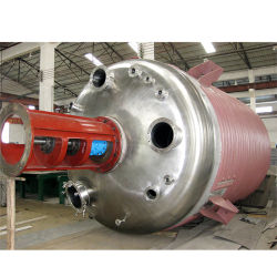 Fabricante de fábrica de aço inoxidável tanque reator/chaleira de reacção/camisa de Navio químico para venda