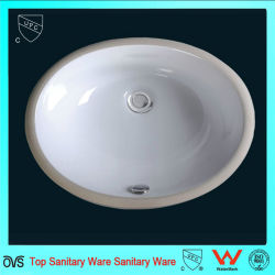 Cupc Undermount ovale Salle de Bain lavabo du bassin en céramique