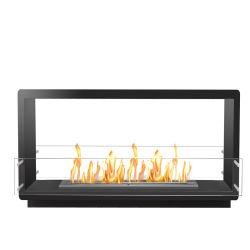現代屋内ホームは生物エタノールの倍が電気暖炉味方したステンレス鋼を飾る