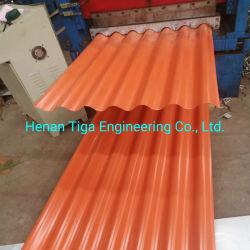 Cor ral de aço corrugado Folhas de revestimentos betumados utilizado em fábrica