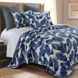 Rotary Imprimir conjunto de ropa de cama de algodón en la Marina (HACER6068)