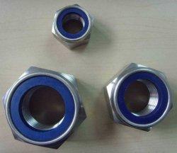DIN985 легированная сталь с шестигранной головкой и капроновая стопорная гайка