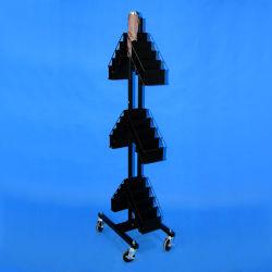 متجر البيع بالتجزئة المحمول 3 تيرز الصلب العرض تثبيتة للمظلة (PHY3034)