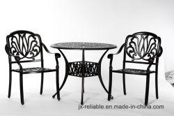 Tranquilo jardín comedor Muebles de aluminio de 3PC W/O Amortiguar