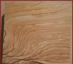 Levering van een gele houten Vien Sandstone-plaat van hoge kwaliteit voor Villa Wandtegel