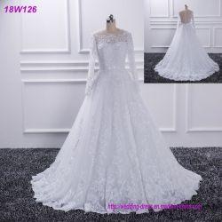 Vestido de casamento novo por atacado do laço das meninas do projeto de China