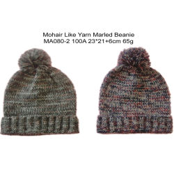 Les hommes de l'acrylique tricot chaud en hiver Fashion Marne Bobble Hat Cap