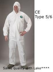 Cheap DuPont imperméable Tyvek coverall Chemmax Tychem jetables en papier Produits chimiques de protection adapté à Biohazard combinaison pour la dépose de l'amiante