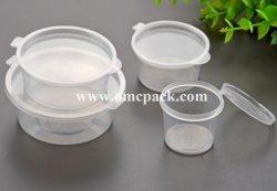 Pp.-Soße-Cup mit eingehängter Kappe für Gaststätte, Plastikbehälter, Teil-Cup, Suffle Cup, Gelee-Cup, Stau-Cup, kleines Plastikcup, Feinkostgeschäft-Cup