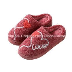 卸し売り方法女性および人の屋内靴の平らなスリッパ