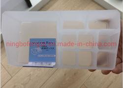 Cosméticos de tamaño pequeño Caja de almacenamiento otros artículos de escritorio Caja de plástico titular de la barra de labios maquillaje multimedia