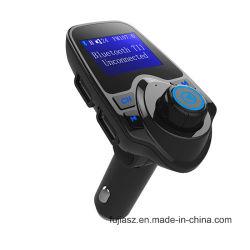 Venta caliente T11 La tecnología inalámbrica Bluetooth Car Kit manos libres con puerto USB soporte cargador de la tarjeta del TF Transmisor FM MP3