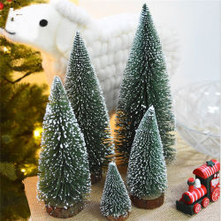Decoração de mesa branco presente de promoção de Natal cedro árvores de Natal Artificiais