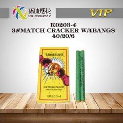 K0203-4-3#Match Cracker mit 4 grosse Knall-roten Cracker-Feuerwerk-Krachern für Verkauf