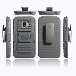 3 в 1 гибридный двойной слой броня телефон крышки картера стойке с помощью чехла зажим для ремня для Samsung J2 PRO