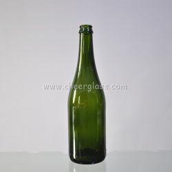 [750مل] ظلام - [غرين كلور] زجاجيّة [شمبن] زجاجة