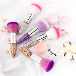 El lujo de alta calidad de uñas de cristal acrílico colorete maquillaje profesional Brush Pincel polvo clavo
