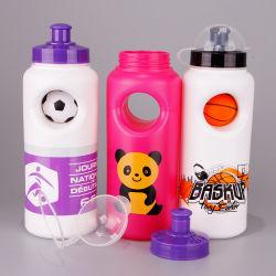 Sports de grade alimentaire bouteille d'eau en plastique avec couvercle étanche aux poussières