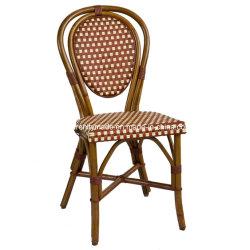工場椅子を食事するハンドメイドのレストランの藤の柳細工の喫茶店