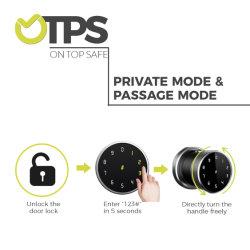 2020 tocco con codice della serratura elettronica delle portiere con impronta biometrica Tasto di blocco password digitale schermo per la casa