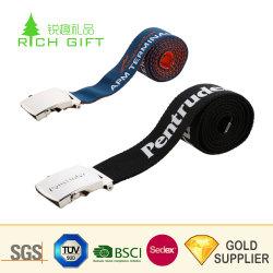 Made in China elástica personalizada impresa la transferencia de calor de la correa de la marca con accesorios para la venta
