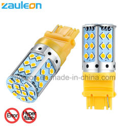 Libre de errores Canbus T25 3156 P27W LED amarillo ámbar no Hyper Lámpara de flash para el coche de la luz de giro