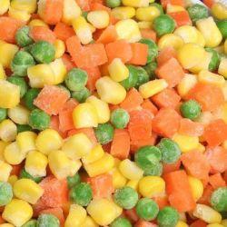 冷凍 IQF 混合野菜グリーンピー、スイートコーン、にんじん