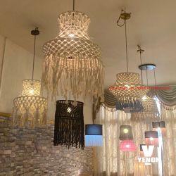 Handmade 대나무 램프 예술 단 하나 샹들리에