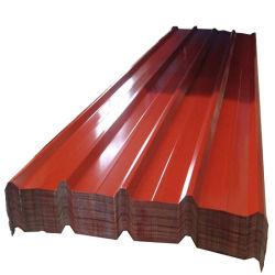 Toit recouvert de feuille de couleur des matériaux de toiture de bâches de métal ondulé