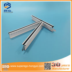 China Factory Galvanised Steel False Suspended Plafondzwart Groove T Raster voor plafondtegels