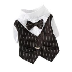 Fabricante de productos de venta directa de mascotas perro gato pequeño botón de cambio de vestido de traje de vestir osito de peluche mascota Cute ropa camiseta
