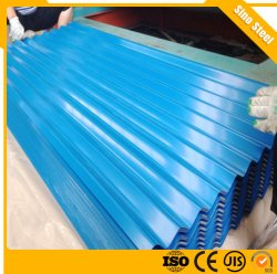 أفضل سعر بناء المواد PPGI لون مغلف الصلب المجعد ورقة السقف