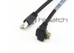 Visão Gige Cabo Ethernet com parafusos do lado da câmera para visão do sistema de inspecção