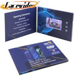 Commerce de gros Fashion Design Smart carton de l'écran LCD de 4,3 pouces Vidéo Brochure insère l'appareil photo cadeau de promotion pour les entreprises de marketing