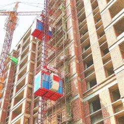 Construção de material de fachadas de elevação do guindaste para levantar o pessoal de materiais passageiros máquina de elevação