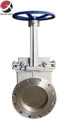 4 بوصة صناعة صمام بوابة الماء، رسم Pn16 من الفولاذ المصبوب لصمام بوابة التحكم في التدفق الصناعي لساق الكاشطة