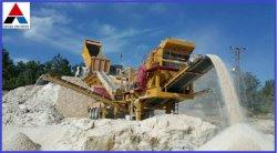 花こう岩の携帯用押しつぶすプラント、移動式粉砕機のプラント移動式粉砕機機械
