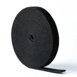 Accesorios de ropa de nylon negro en el dorso de cinta de velcro Bridas de fijación