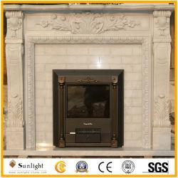 白い大理石 / 黄色の大理石 / 御影石の暖炉、マンテル / サラウンド
