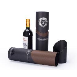 Luxus spezielle Form Papierrohr für Wein Verpackung Box